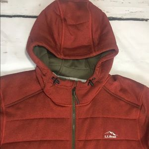 L.L. Bean Quilted Hooded Jacket Semi Fitted XL